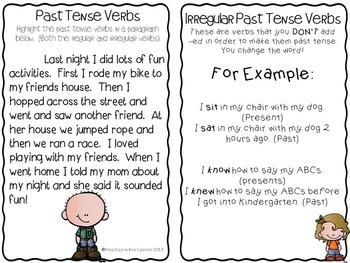 Irregular Past Tense Verbs (Kids)