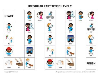 Irregular Past Tense Verbs: Leveled Games