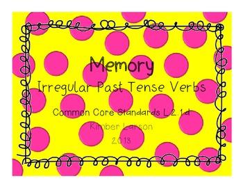 Irregular Past Tense Verbs Memory Game