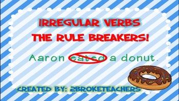 Irregular Past Tense Verbs Mini Lesson PowerPoint