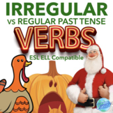 Irregular Past Tense Verbs: Christmas, Thanksgiving & Halloween bundle
