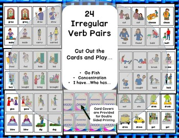 Irregular Past Tense Verbs Playing and Flash Cards ESL EFL ELL