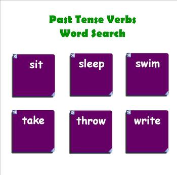Irregular Past Tense Verbs SMARTboard Activity
