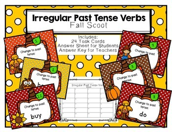 Irregular Past Tense Verbs Scoot Fall