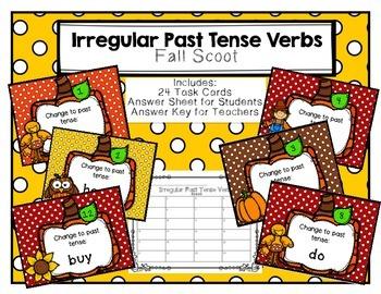 Irregular Past Tense Verbs Scoot Fall