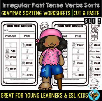 Irregular Past Tense Verbs Sort | Grammar Cut and Paste Worksheets