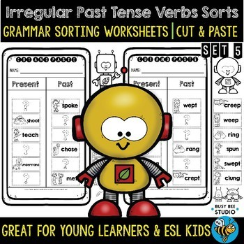 Irregular Past Tense Verbs Sort | Grammar Cut and Paste Worksheets