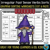 Irregular Past Tense Verbs Sort   Grammar Cut and Paste Worksheets   Freebie