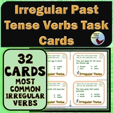 Vocabulary: Task Cards Irregular Past Tense Verbs Task Card Set ELA ESL