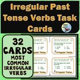 Vocabulary: Task Cards Irregular Past Tense Verbs Task Car
