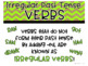 Irregular Past Tense Verbs:  Task Cards
