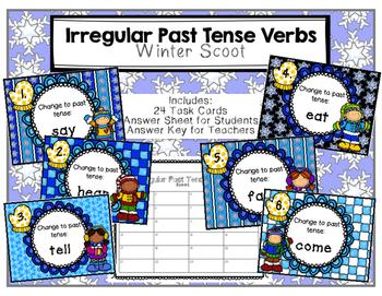 Irregular Past Tense Verbs Winter Scoot