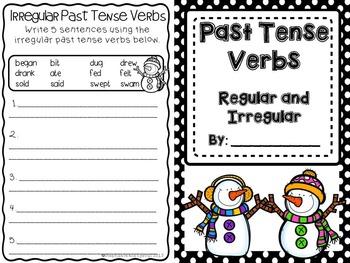 Irregular Past Tense Verbs (Winter Snowmen Theme)