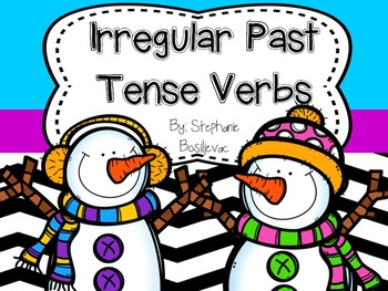 Irregular Past Tense Verbs (Winter Snowmen Theme)