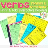 Irregular Past Tense Verbs Worksheet & Verb Tenses -Interactive Notebook Booklet