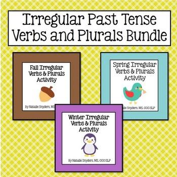 Irregular Past Tense Verbs and Plurals Activity Bundle - F