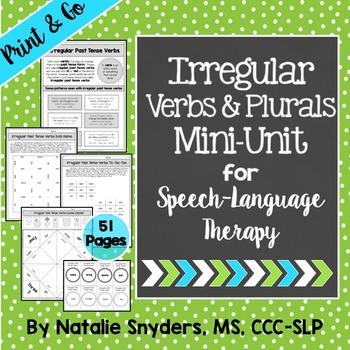 Irregular Past Tense Verbs and Plurals Mini Unit for SLPs