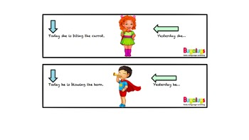 Irregular Past Tense Verbs complete the sentence activity