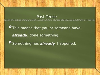 Irregular Past Tense Verbs ppt
