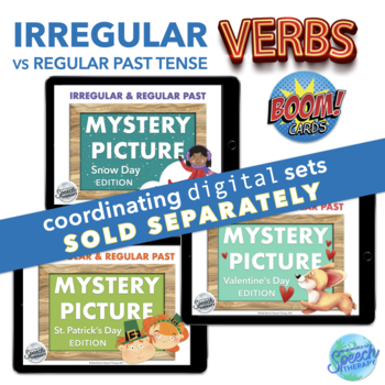 Irregular Past Tense Verbs: winter, Valentines & St. Pat's bundle