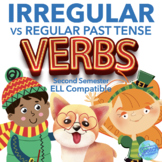 Irregular Past Tense Verbs: winter, Valentines & St. Pat's bundle