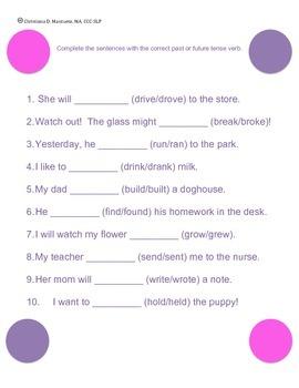 Irregular Past vs. Future Tense Verbs