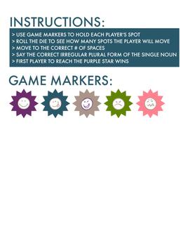 Irregular Plural Board Game