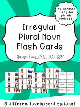 Irregular Plural Flash Cards