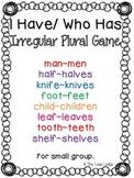 Irregular Plural Game