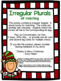 Irregular Plural Matching Cards for Language Therapy and I