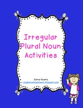 Irregular Plural Noun Activities