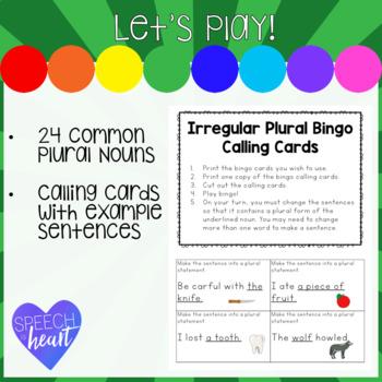 Irregular Plural Noun Bingo