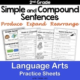 Simple and Compound Sentences NO PREP Practice Sheets