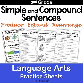 Simple and Compound Sentences NO PREP Practice Sheets by Tiny ...