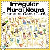 Irregular Plural Noun Activities: Grammar Game Cards