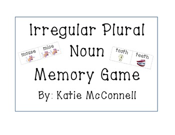 Irregular Plural Noun - Memory Game