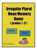 Irregular Plural Noun Memory Game