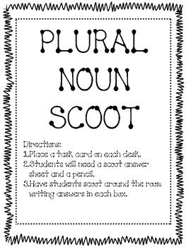 Irregular Plural Noun Scoot