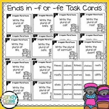 Irregular Plural Nouns Task Cards Bundle