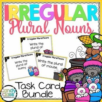 Irregular Plural Nouns Task Cards Bundle - L.2.1.B