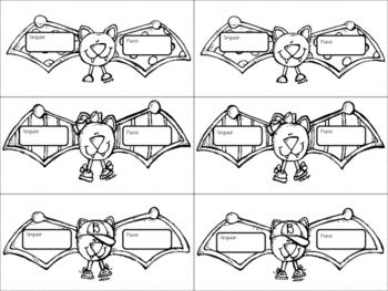 Irregular Plural Nouns Bat Craftivity FREEBIE!