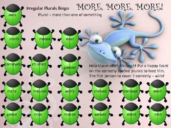 Irregular Plural Nouns Bingo