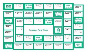 Irregular Plural Nouns Board Game
