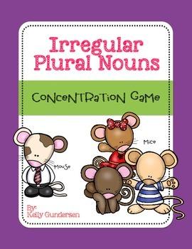 Irregular Plural Nouns Concentration Game Cards