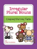 Irregular Plural Nouns Concentration Game Cards
