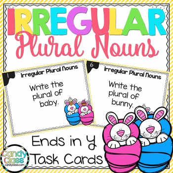Irregular Plural Noun Task Cards - Ends in Y - L.2.1.B