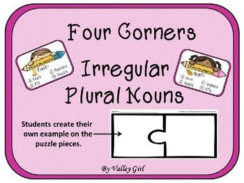 Irregular Plural Nouns Four Corners