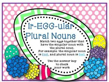 Ir-Egg-ular Plural Nouns