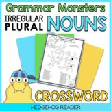 Irregular Plural Nouns Activity - Crossword Puzzle Worksheet