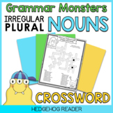 Irregular Plural Nouns - Friendly Monster Crossword Puzzle